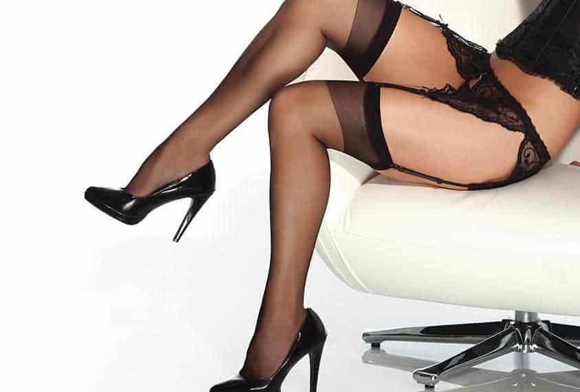 Coquette Sheer Stay Up Stockings