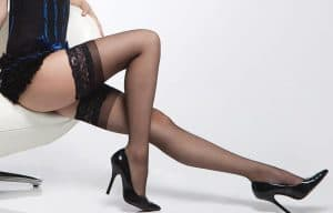 Coquette Sheer Thigh High Stockings with Elastic Top CQ1750