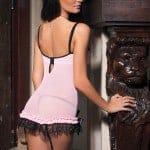 Pink/Black Mesh/Lycra Chemise CQ3381 bv