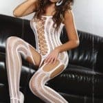 Almas Body Stocking Wh fv