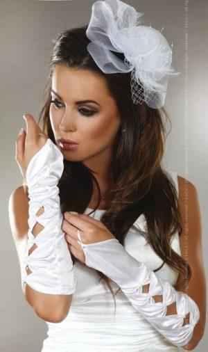 Livco Corsetting Gloves Model 5 white