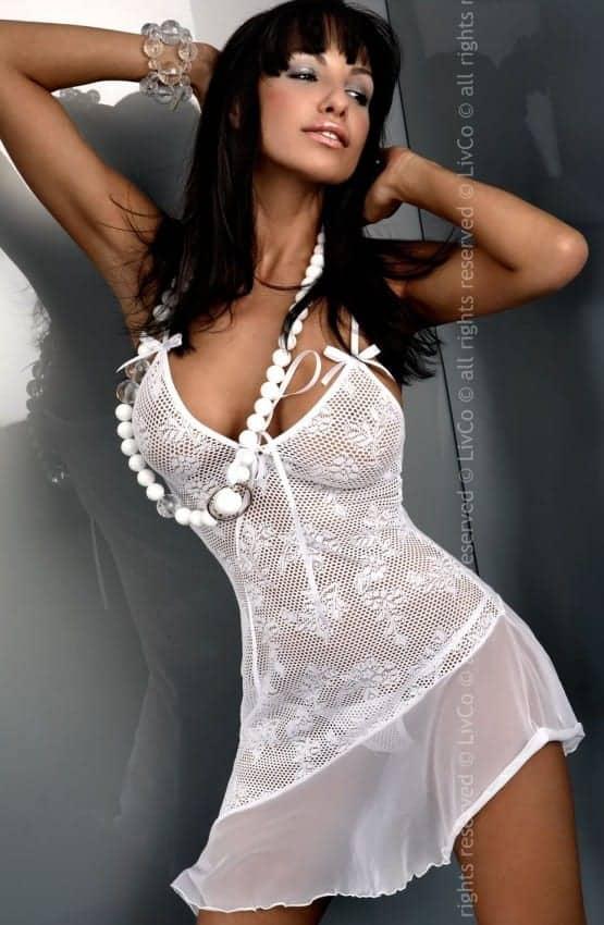 Livia Corsetti Inez Chemise white front JS3301