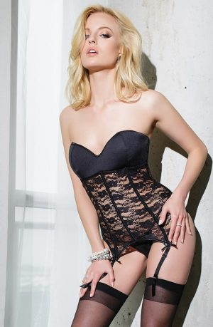 Coquette Bustier SB602 sleeveless front close up