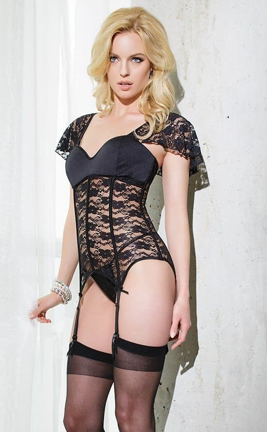 Coquette Bustier SB602 -sleeve front alternate view