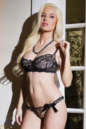 Coquette Lace Bra and Panty Set Front