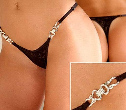 Jewel lace G String