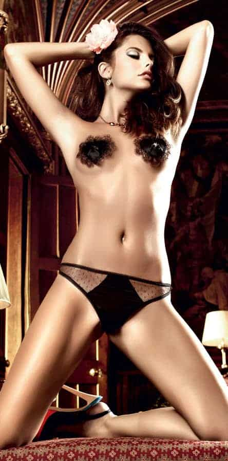 Baci opaque front sheer tulle G-String frontv