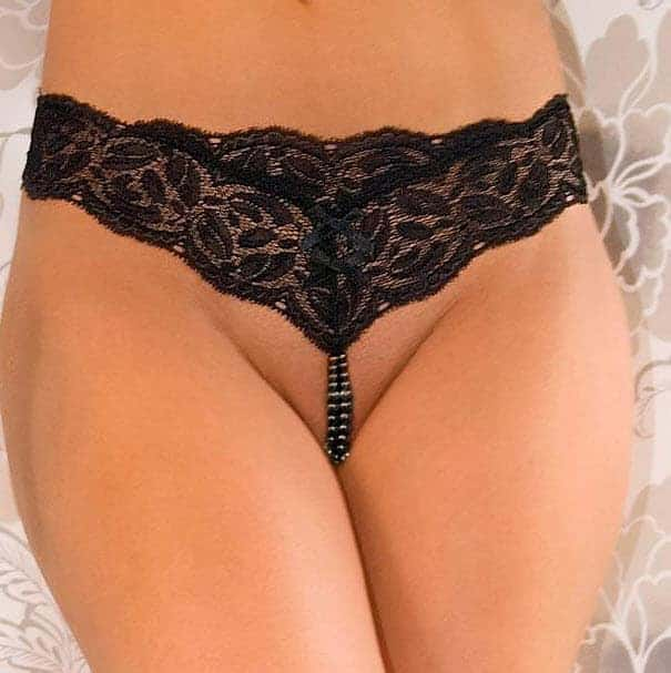 Bracli Ebony Your Night Pearl Thong Front 2