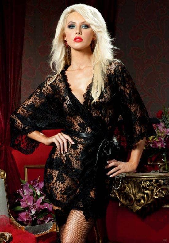 Paisley Pleasure lace robe Plybg STM-9405 fv
