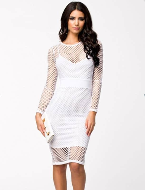 mesh dress white XL