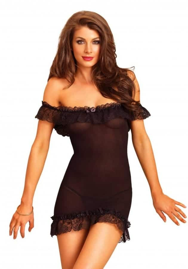 Leg Avenue Off the shoulder chemise 866607