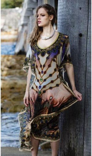 Ameise feather drs-1501 Long Kaftan