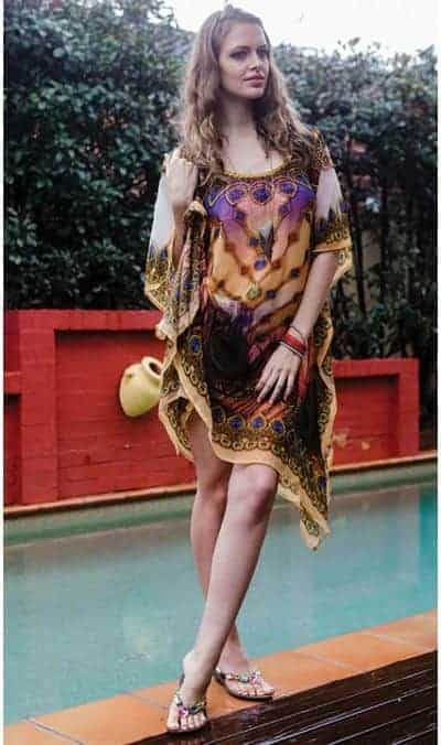Ameise feather drs-1502 Short Kaftan