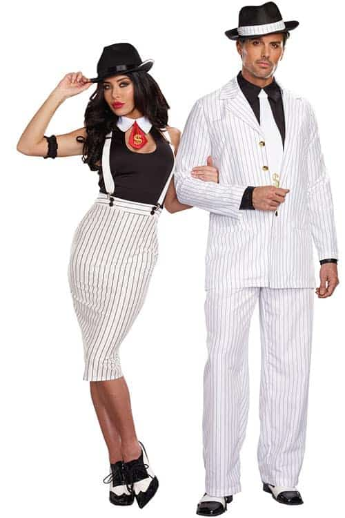 Dreamgirl 5 Pce Sleek 40's Style Gangster Costume front 2