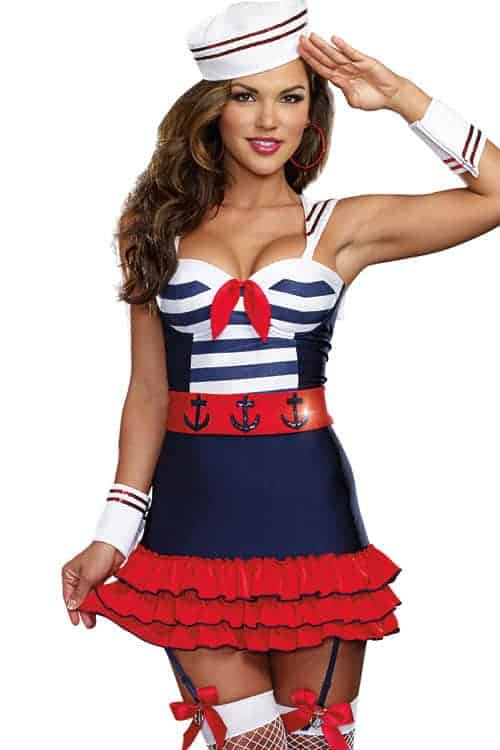 Dreamgirl 5 Pce Cutie Sailor Costume front