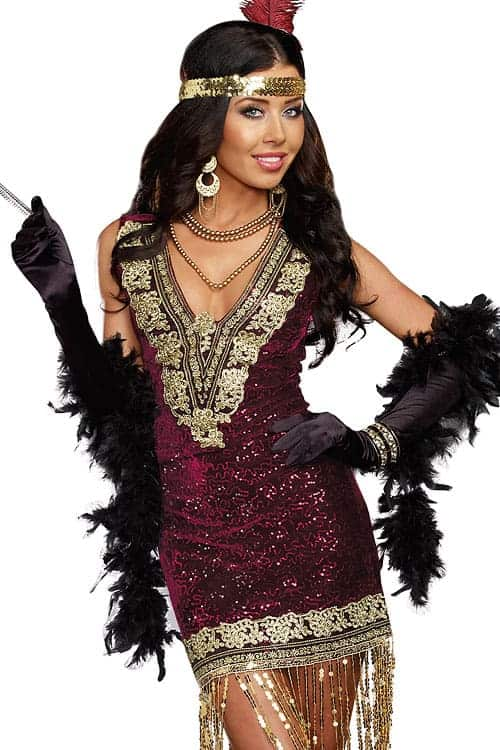 Dreamgirl 2 Pce Flapper Costume Marys Secret Boutique