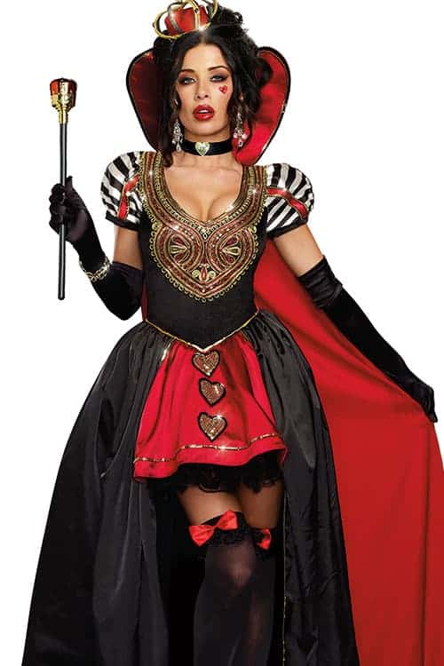 Dreamgirl 3 Pce Queen of Hearts Costume front