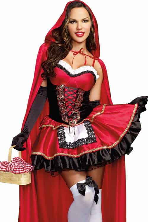 Dreamgirl 2 Pce Little Red Riding Hood Costume front