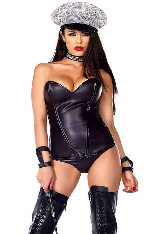 Forplay Faux Leather Corset 665335 front