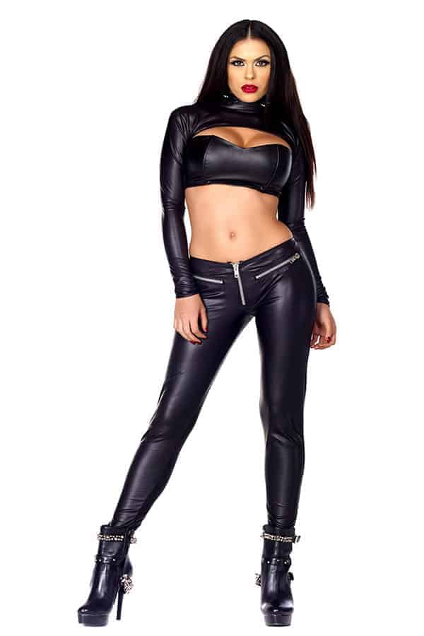 Forplay Faux leather pants 665355 front 2