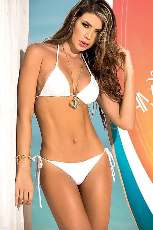 Mapale dare to go bare white bikini front