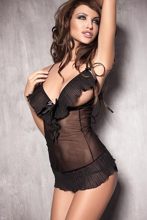 Anais Caprice Peek A Boo Chemise with Thong front