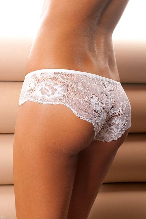 Anais Luxe Lace and Tulle White Panty back