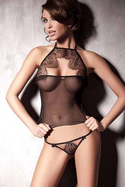 Anais Mysterious Eyelash Lace G-String front 2