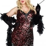 Dreamgirl 2 Pce Red Flapper Costume fv3