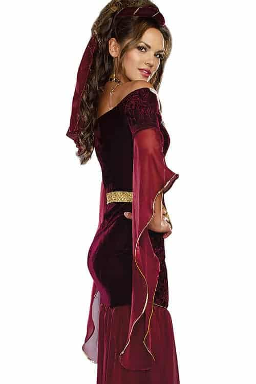 Dreamgirl 3 Pce Medieval Costume back