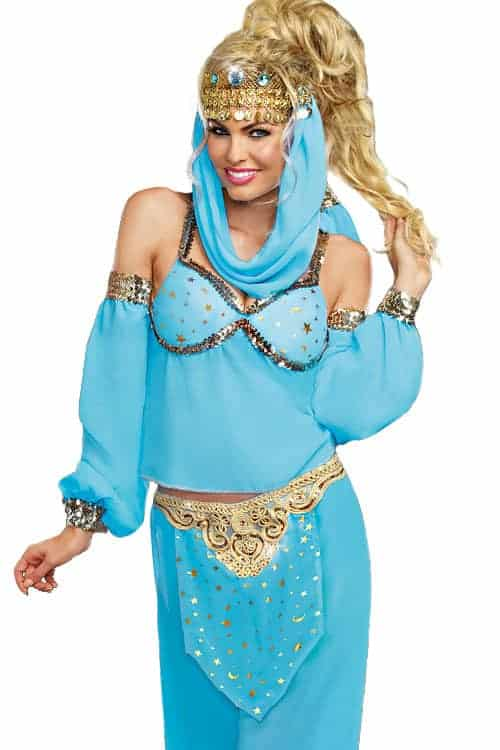 Dreamgirl 4 Pce Genie Costume front