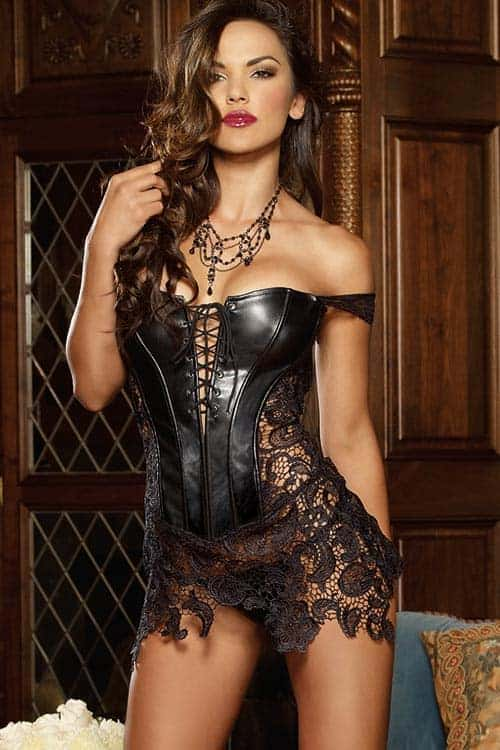 Dreamgirl Beyonce Corset with Thong front