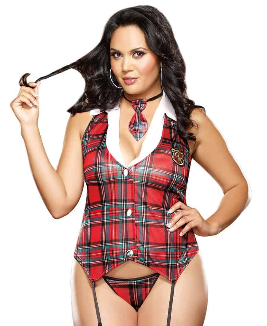 Dreamgirl Homeroom Hottie 3 Pce Costume Plus Size front