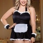 Dreamgirl Maid Me Dirty 4 Pce Costume QS front