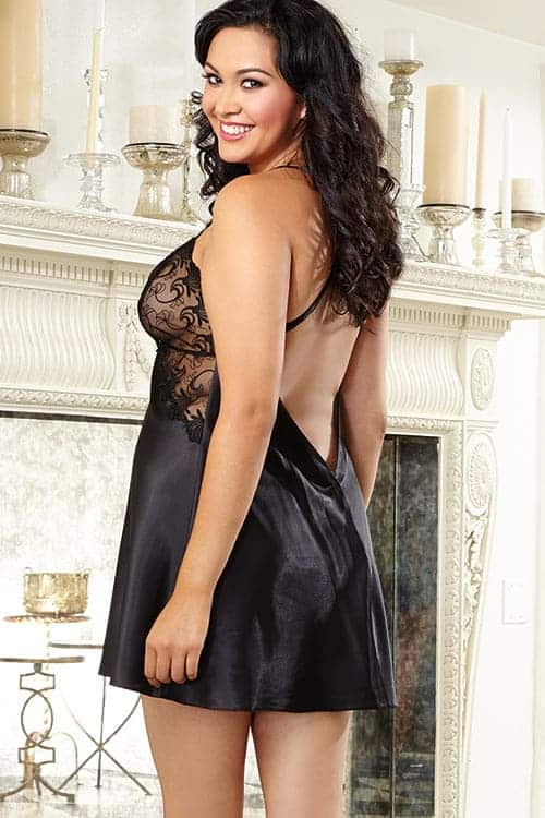 Dreamgirl Satin Charmeuse with Lace Chemise back 2