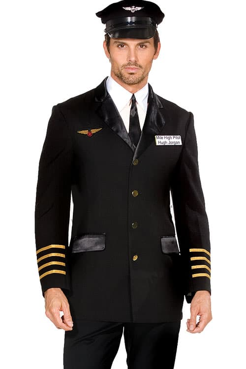 Dreamgirl 4 Pce Pilot Costume front