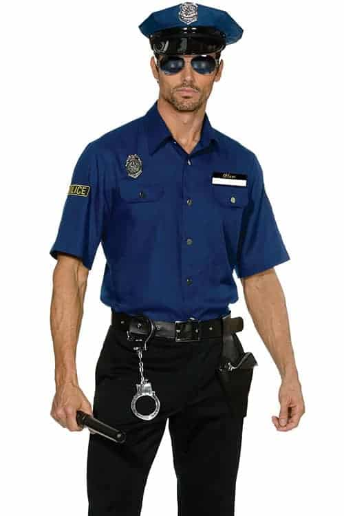 Dreamgirl 6 Pce Policeman Costume front