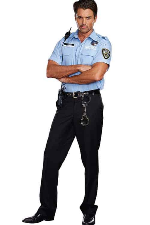 Dreamgirl 6 Pce Prison Guard Costume front 2