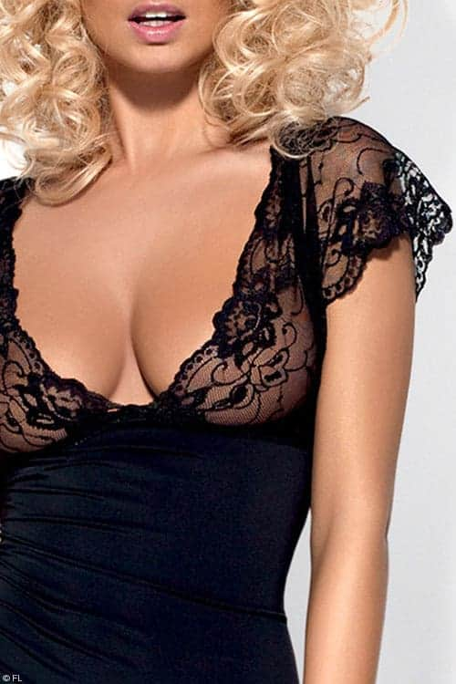 Obsessive Idillia Chemise with Thong front 2
