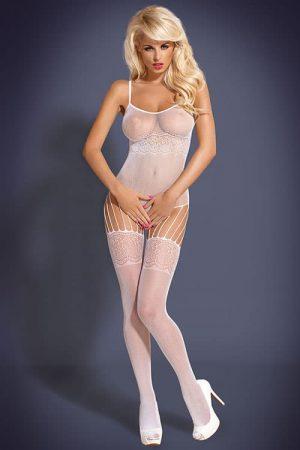 Obsessive body stocking F207 white front