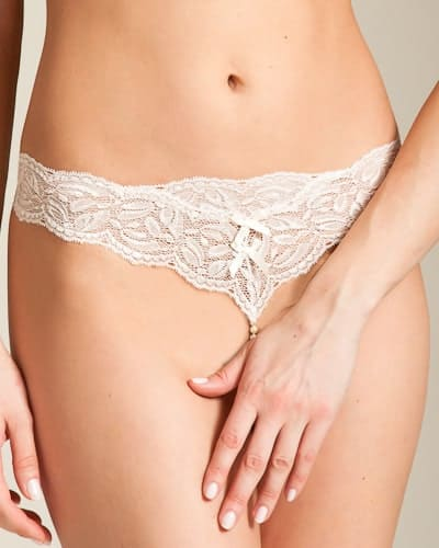 Bracli Classic Ivory Pearl Thong front