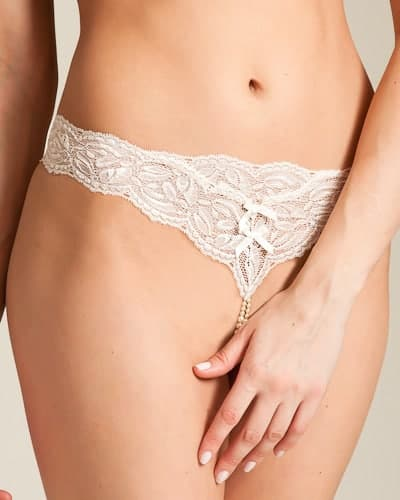 Bracli Your Night Ivory Pearl G String front