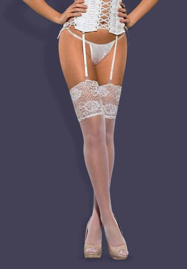 Obsessive Subtle Sheer White Stockings fv