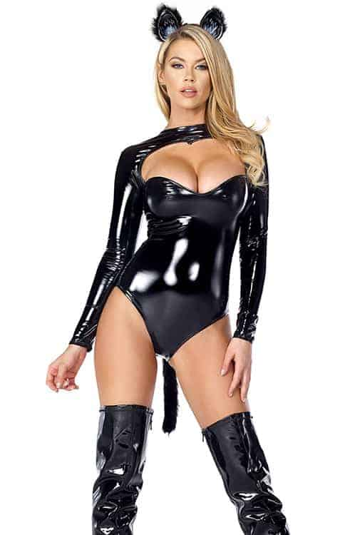 Forplay Feline Fetish Sexy Black Cat Costume front