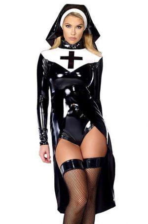 Forplay Saintlike Seductress Sexy Nun Costume front