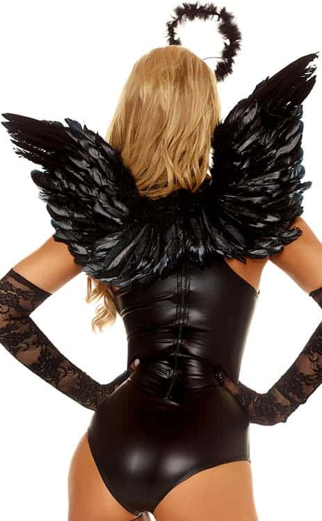 Forplay Black Feather Angel Wings