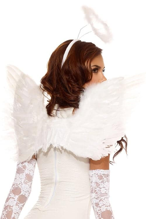 Forplay White Feather Angel Wings