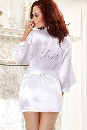 """Dreamgirl Satin """"Bride"""" Robe 6278 back 2"""