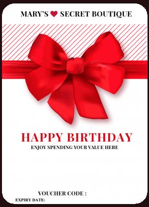 Happy Birth Day Gift Voucher