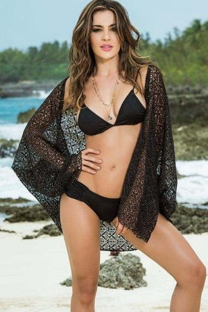Mapale Open Weave Cover Up front